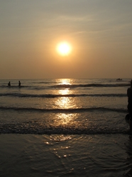 Sun's Reflection on Ripples