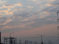 Beautiful Sky in the Morning wishing us Happy Journey
